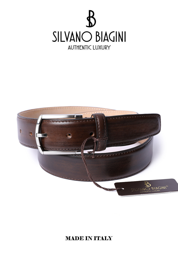 SILVANO BIAGINI BELT-BROWNSPECIAL ORDER-MADE IN ITALY