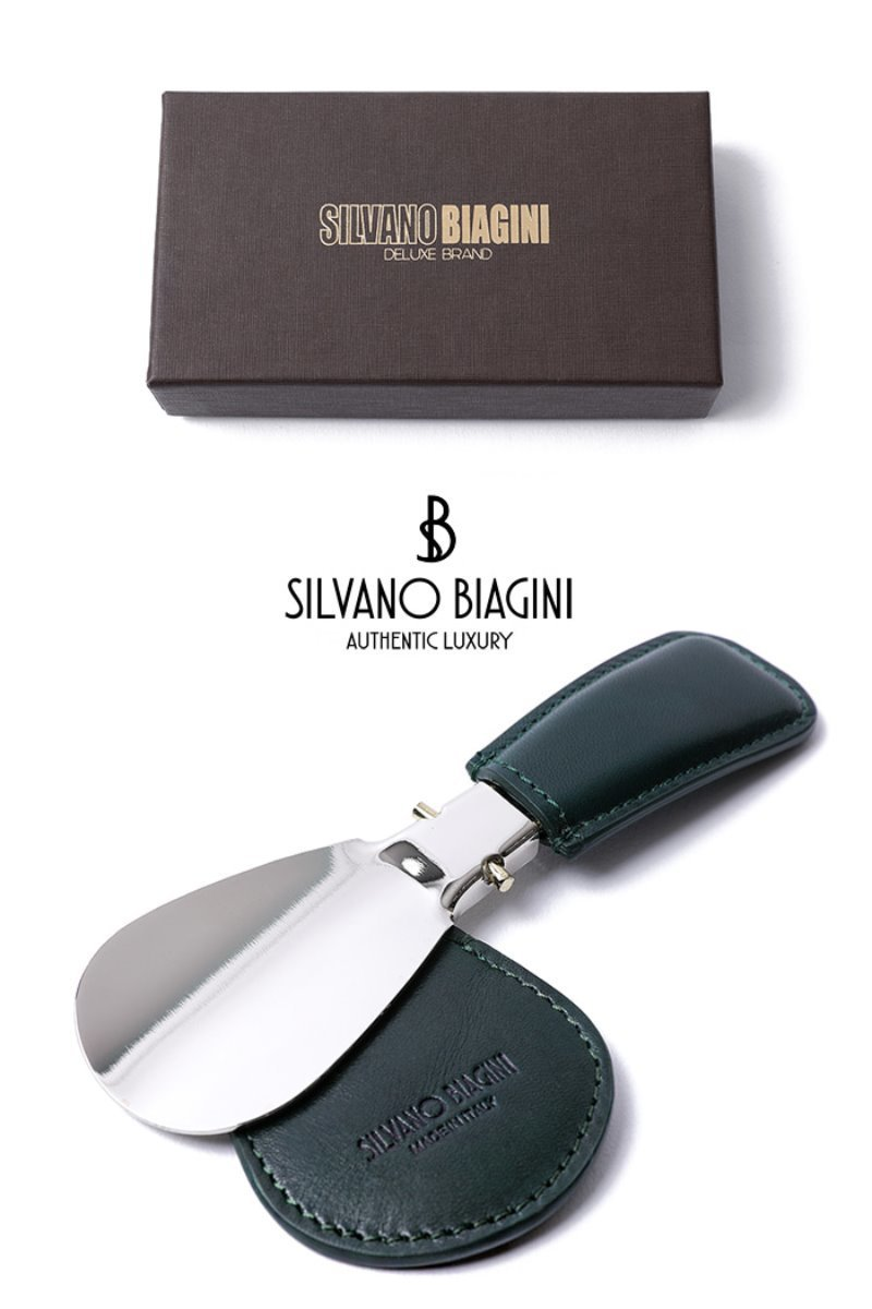 SILVANO BIAGINI SHOE HORN-GREENSPECIAL ORDER-MADE IN ITALY