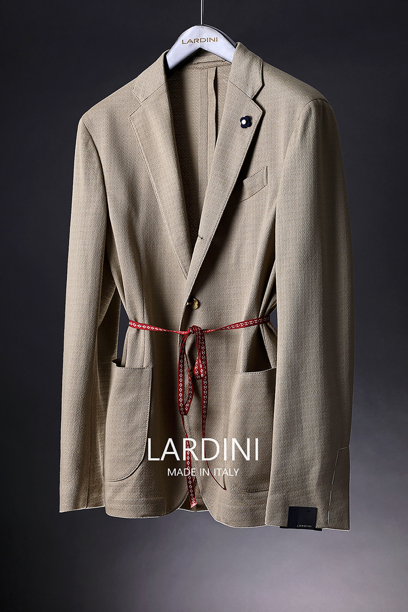LARDINI FORMAL JERSEY JACKET-BEIGE[ITALY-Original]-극소량 한정!