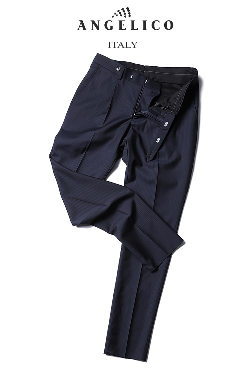 TAKE490 ITALY ANGELICO STRIPE PANTS-NAVY-Best Seller-1/2이상 판매완료!!